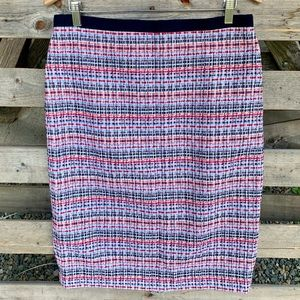 NEW Talbots Multi Color Tweed Style Pencil Skirt